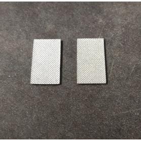2 Plaques en résine - Peint - 21 x 11 mm
