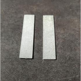 2 Plaques en résine - Peint - 54.50 x 10.70 mm