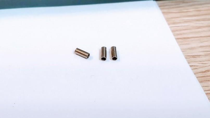 Sortie échappement ø2 X 5 avec pré-trou  en laiton - Lot de 4 - CPC