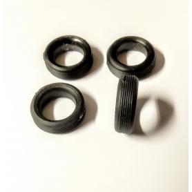 4 Pneus en résine souples - ø15mm - Ech 1:43