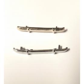 Pare-chocs AV/AR  - DELAHAYE 175 Paramerica N°04 - White Metal - Ech 1:43