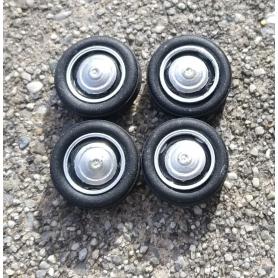 4 roues complètes  ø15 mm   - 1:43