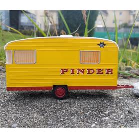En l'état - Caravane Digue de type Panoramique PINDER - Ech. 1:43