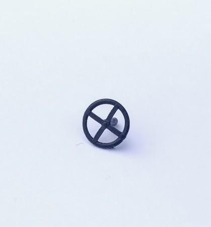 Volant - White Metal - Noir  - Ech 1:43 - ø10 mm