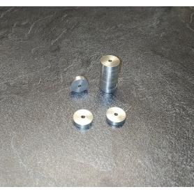 Disque en aluminium percée Ø2mm - Par 10