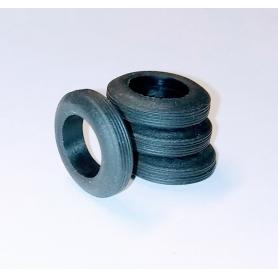 4 neumáticos de resina...