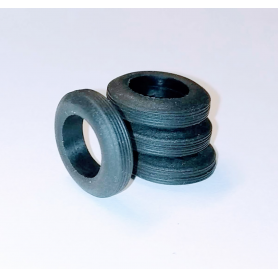 4 Pneus en résine souples - ø 16.50 mm - Ech 1:43