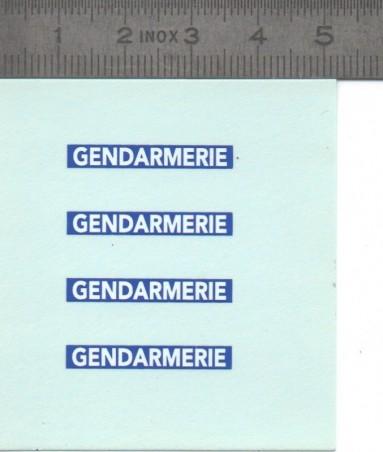 Décalcomanie de la Gendarmerie - Ech. 1:43 - Lot de 4