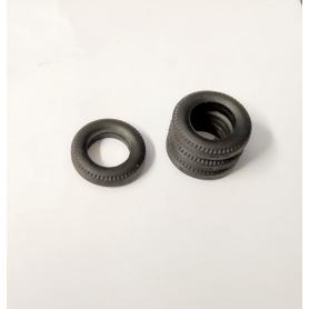 Pneus en résine souple - ø15mm Ép 3.50mm - Ech 1:43 - Par 4