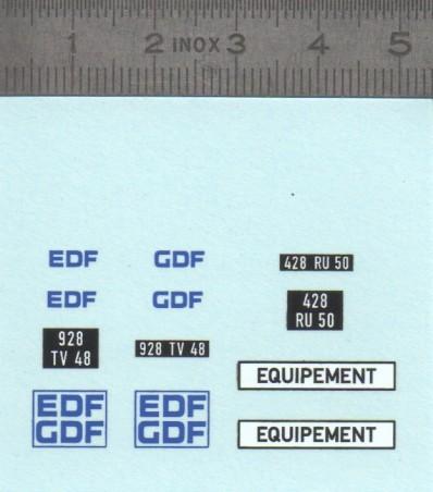 """Décalcomanie """"EDF GDF"""" 1/43ème"""