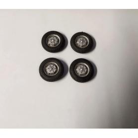 4 ruote complete per furgone OPEL Blitz - Ech. 1/43 - ø 19.40mm