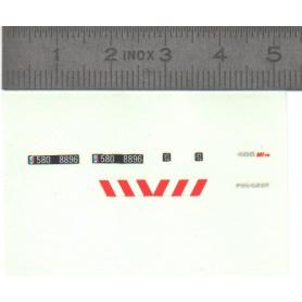 Décalcomanie - Peugeot 405 Mi16 Gendarmerie - Ech. 1:43