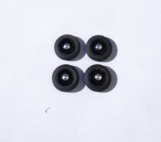 4 roues complètes - Hotchkiss - Noir - Ech. 1:43