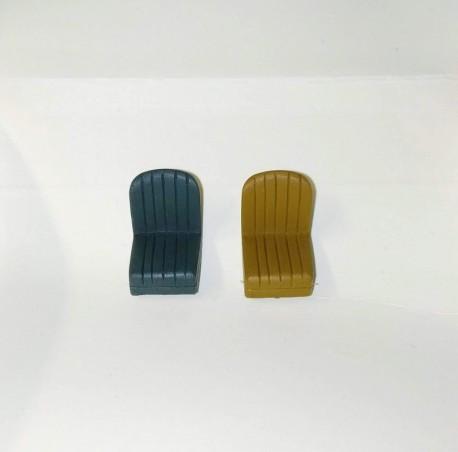 White flat styrene profile 2.0 mm - Length 33 cm. Lot of 3