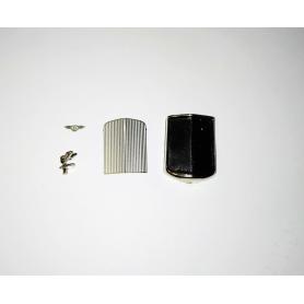 White flat styrene profile 1.0 mm - Length 33 cm. Lot of 3