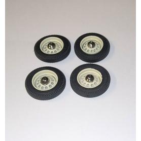 PANHARD - 4 roues complètes - IVOIRE - Ech 1:43