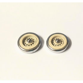 PANHARD - 2 spare wheels - IVORY - Scale 1:43