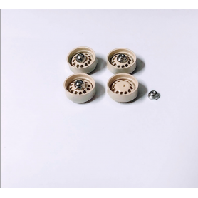 PANHARD - 4 ivory rims - Resin and metal - Ech. 1:43
