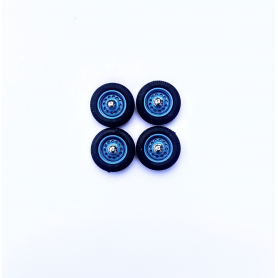 PANHARD - 4 roues complètes - Bleu - Ech 1:43