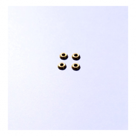 4 Embases ø 4 mm en laiton  - Ech. 1:43