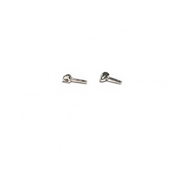 2 Scheinwerfer / Blinker aus Weißmetall - Länge 2,10 mm - 1:43