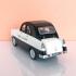 2 phares arrières - Citroën 2CV Charbonneau Dyane - White Metal - 1:43