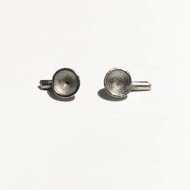 2 headlights ø5.80 mm - White Metal - Scale 1:43