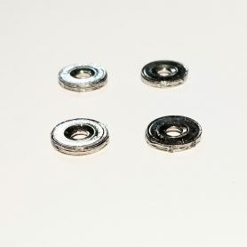 4 White Metal disc - Chrome - ø9mm - Scale 1:43