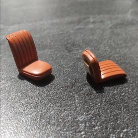 2 Sièges pour Bugatti T46 - Ech 1:43 - Résine