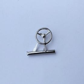 Steering wheel ø10.50 - Hotckiss - Scale 1:43 - White Metal