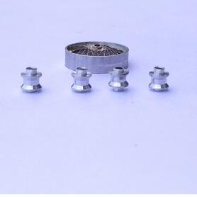 4 Moyeux   ø 3.75 X 4.20 mm - Aluminium - 1:43