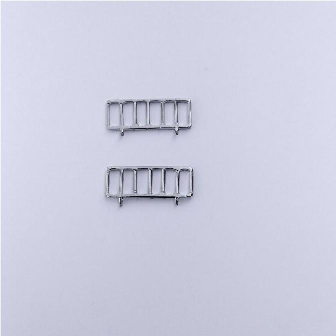 2 Grilles Coffre extérieur - Panhard Parisienne - 1:43 - White Metal