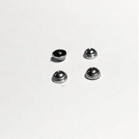4 inserts Centre de roue Panhard - ø4mm - White Metal - 1:43