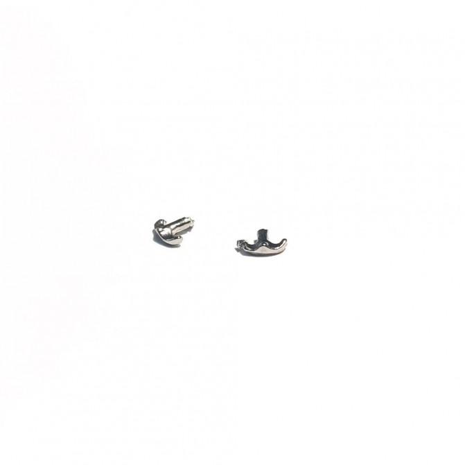 2 Poignées de coffre Panhard - White Metal - 1:43
