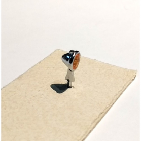 2 phares ø6 mm - Orange - White Metal - 1:43