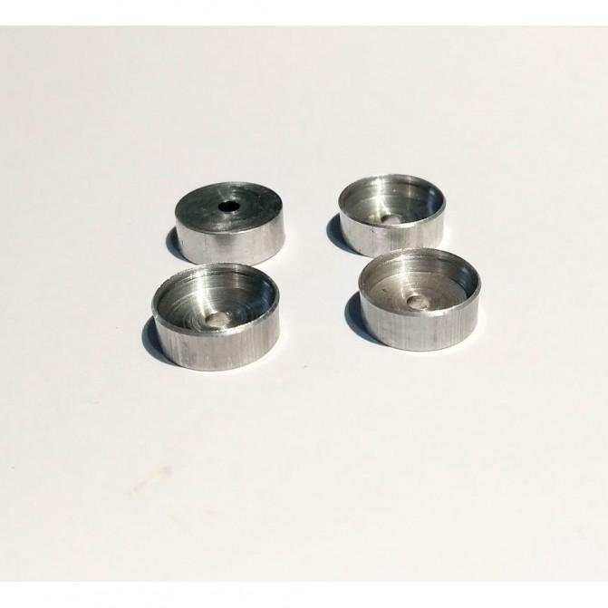 4 Jantes en Aluminium Ø10 mm X 3.80 mm - CPC