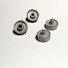 4 Jantes AR de jumelage ø11.50 mm - White Metal