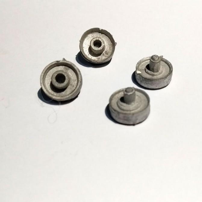 4 Jantes de jumelage ø11.50 mm - White Metal
