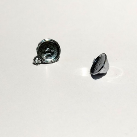 2 phares ø7.50x3.50mm - White Metal - 1:43