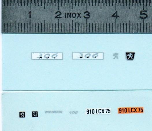 Décalcomanie - Peugeot - Ech. 1:43