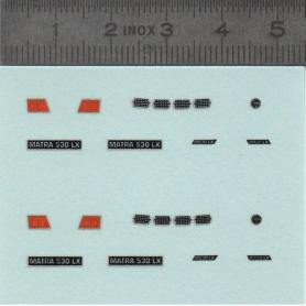 Decal: MATRA 530 LX - Scale 1:43 - X2