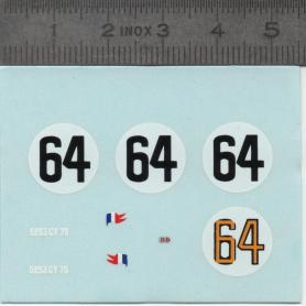 Décalcomanie : RENAULT DB N°64 LE MANS 1954 - Ech 1:43