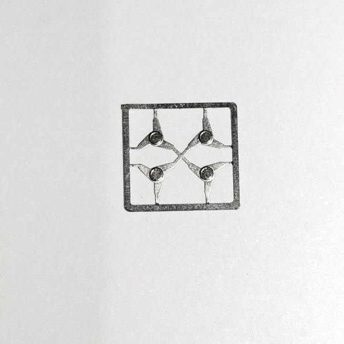 4 Écrous Papillon - Env. ø 4.50 mm - Photodécoupe