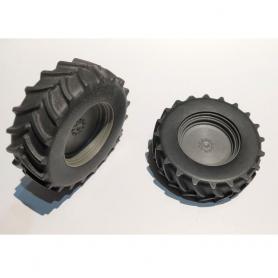 2 Räder für Traktor - 620/70 / R38 - Maßstab 1:32 - Harz