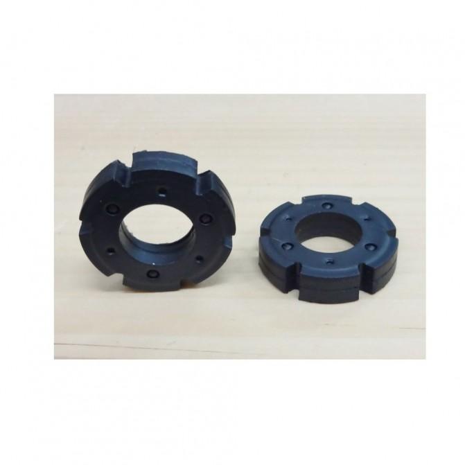 2 masses de roue - 1:32 - Résine - Miniature Agricole