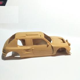 """Peugeot 205 Turbo 16 """"Grand Raid"""" au 1/43ème vue de côté passager"""