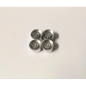 Aluminum rims with resin insert - Scale. 1:43 - ø10.20 mm