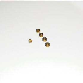 5 pulleys ø4 x 2 mm - BRASS - CPC Production