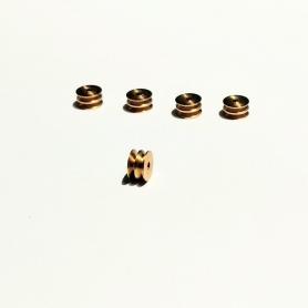 copy of 5 pulleys ø4 x 2 mm - BRASS - CPC Production