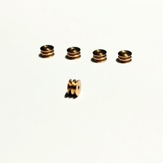 5 poulies percées ø4 x 2.20 mm - LAITON - CPC Production